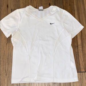 White Nike Tennis/Workout T-Shirt